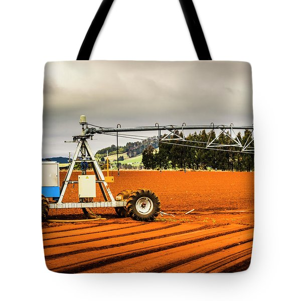 Farming Field Equipment Tote Bag