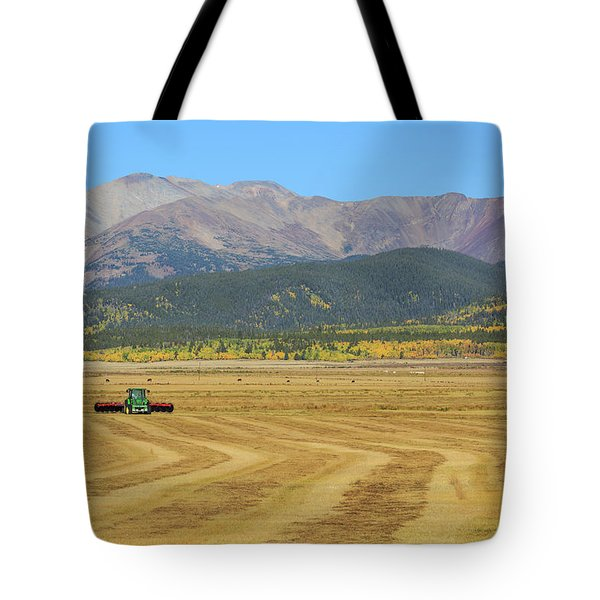 Tote Bag featuring the photograph Farming In The Highlands by David Chandler