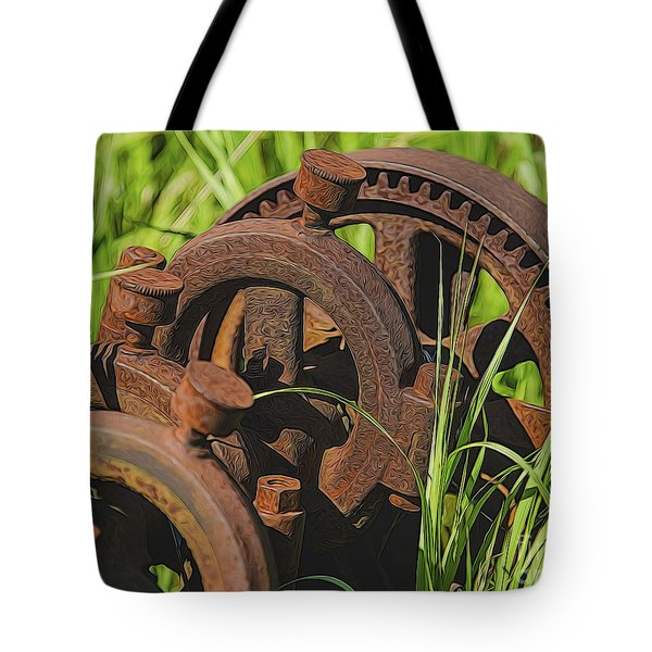 Tote Bag featuring the photograph Farming Rusty Gold by JRP Photography