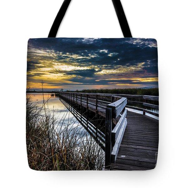 Farmington Bay Sunset - Great Salt Lake Tote Bag