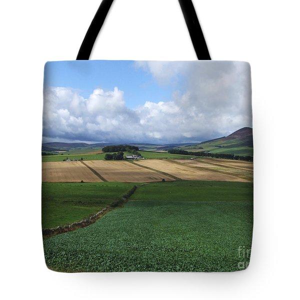 Farmland Near Rhynie, Aberdeenshire Tote Bag