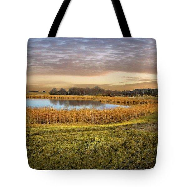 Farmland Pond Tote Bag
