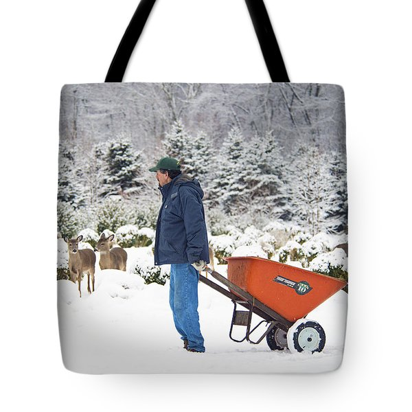 Tote Bag featuring the photograph Farmlife by Angel Cher