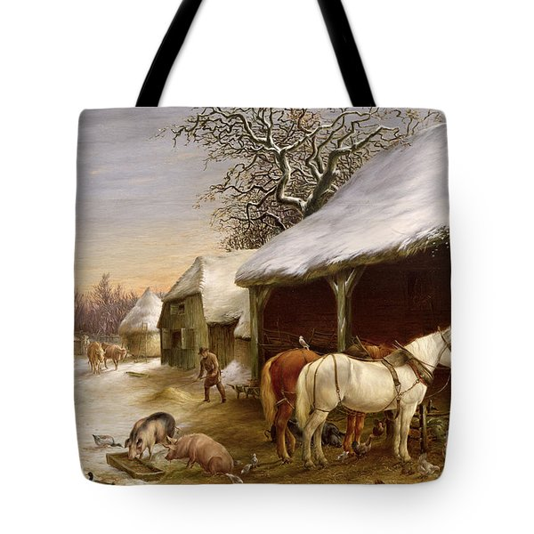 Farmyard In Winter  Tote Bag