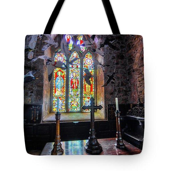 Tote Bag featuring the photograph Farne Island Church by Dennis Dame