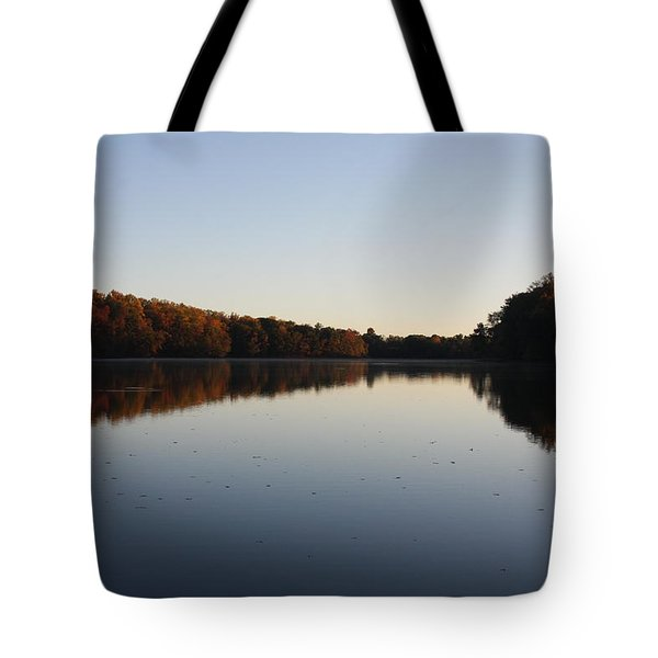 Tote Bag featuring the photograph Farrington Lake Autumn by Vadim Levin