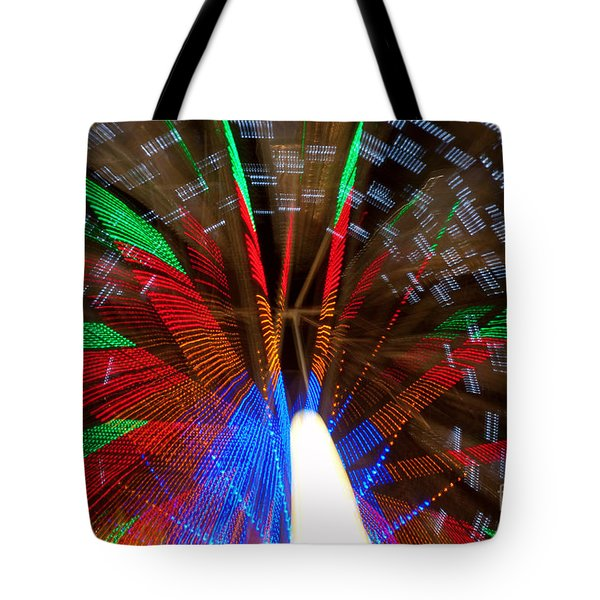 Farris Wheel Light Abstract Tote Bag by James BO  Insogna