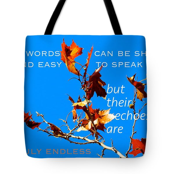 Farthest Reach Tote Bag by David Norman