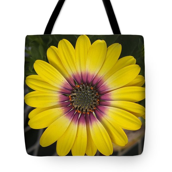 Fascinating Yellow Flower Tote Bag by Jasna Gopic