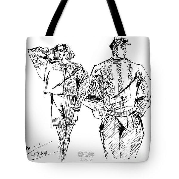 Fashion Couple Tote Bag