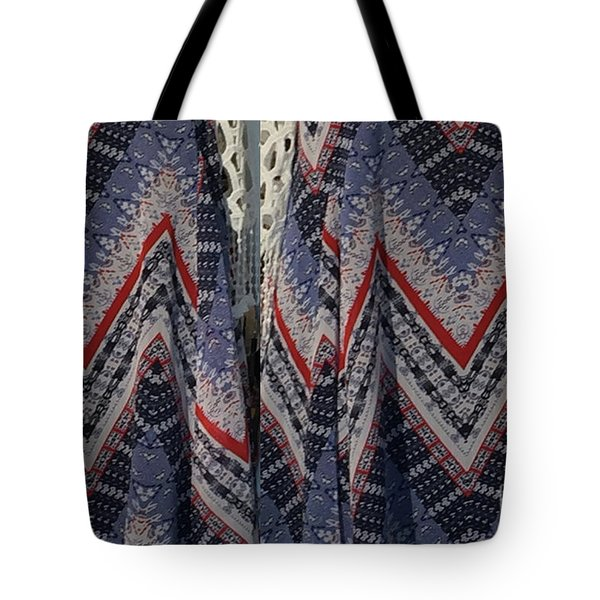 Tote Bag featuring the photograph Fashion Diva Dress Fabric Pattern Pillows Curtains Towels Tote Bags Phone Cases Christmas Holidays  by Navin Joshi