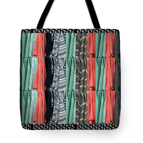 Tote Bag featuring the photograph Fashion Fabric Textures Colorful Pattern On Pillows Tshirts Curtains Towels Gifts Christmas Holidays by Navin Joshi