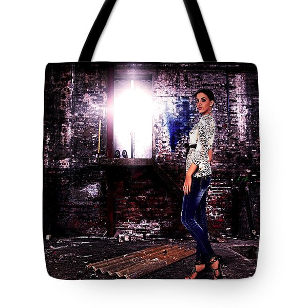 Fashion Model In Jeans  Tote Bag by Milan Karadzic