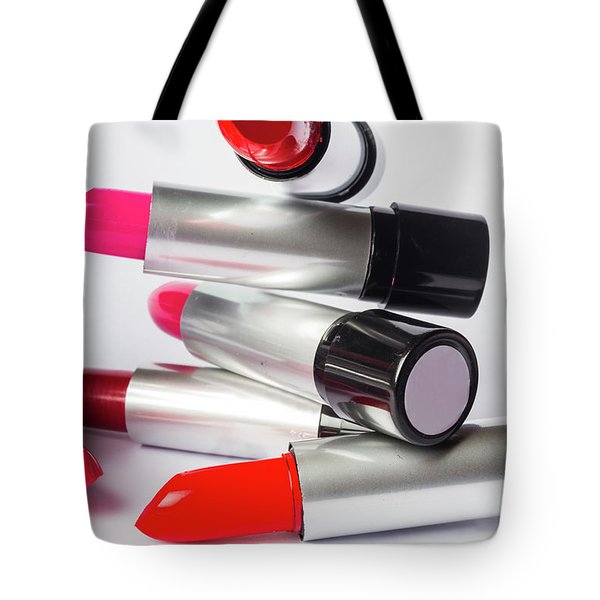 Fashion Model Lipstick Tote Bag