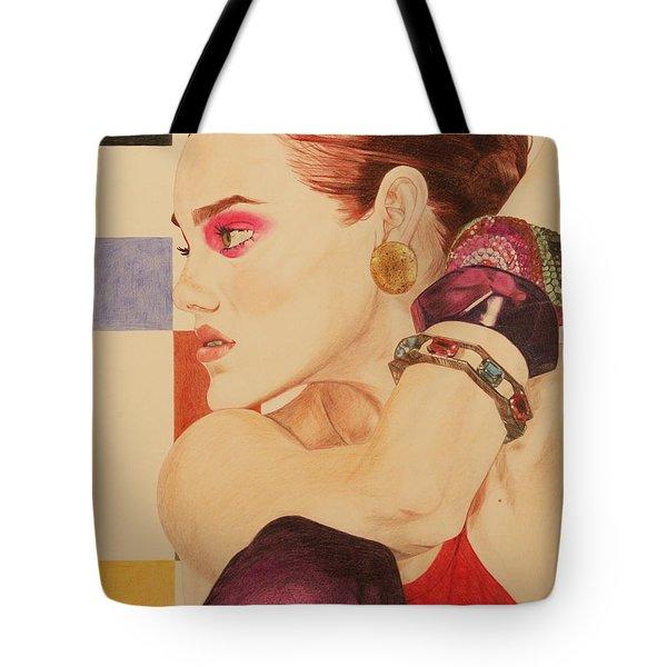 Fashion Model Tote Bag