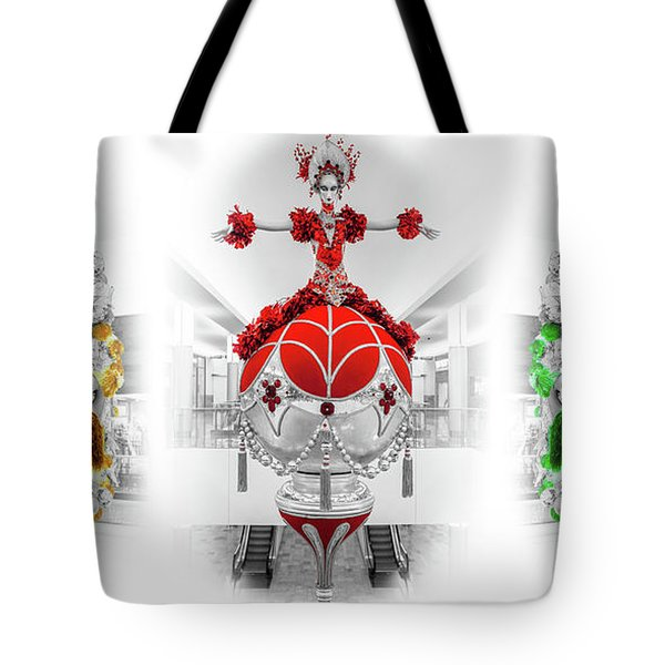 Fashion Show Christmas Ornament Collection Tote Bag
