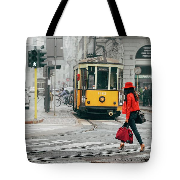 Fashionista In Milan, Italy Tote Bag