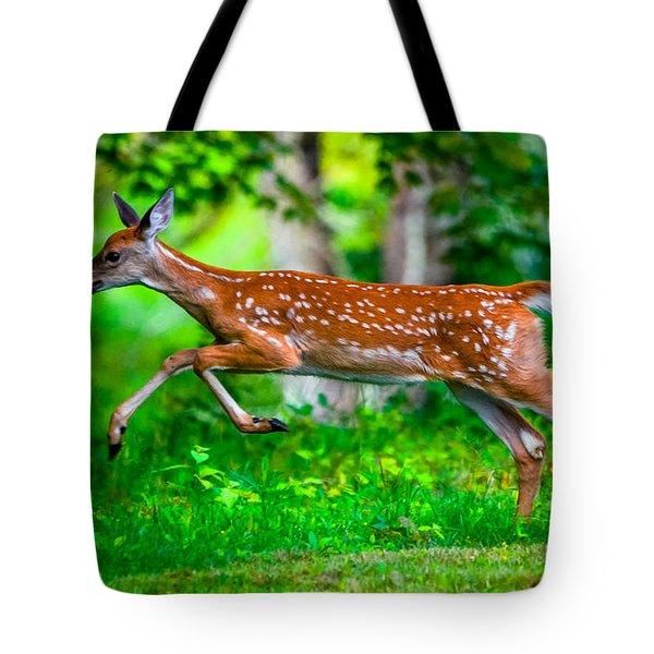 Fast Fawn 2 Tote Bag by Brian Stevens