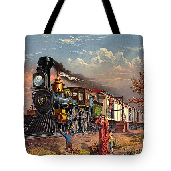 Fast Mail 1875 Tote Bag by Padre Art