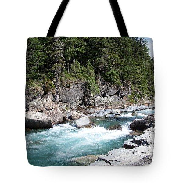 Fast River Tote Bag