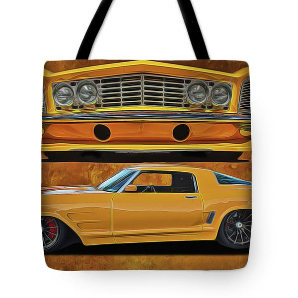 Tote Bag featuring the painting Fast Yellow by Harry Warrick