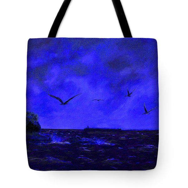 Fastnet Light Ireland Night Tote Bag
