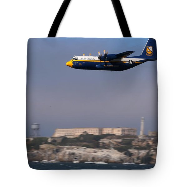 Tote Bag featuring the photograph Fat Albert Buzzes The San Francisco Bay by John King