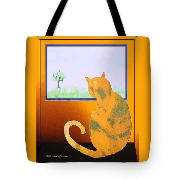 Fat Cat At Her Window Tote Bag