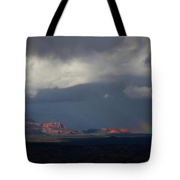 Fat Ground Rainbow, Red Rocks Sedona Tote Bag