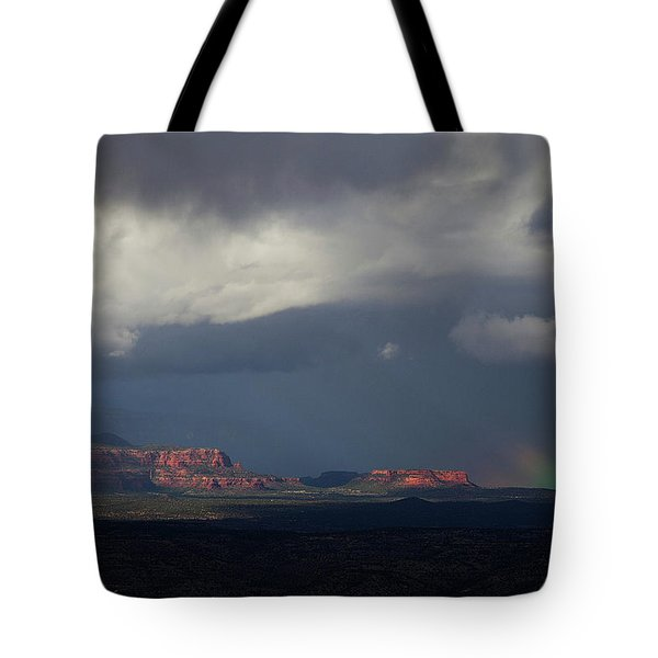 Fat Ground Rainbow, Red Rocks Sedona Tote Bag