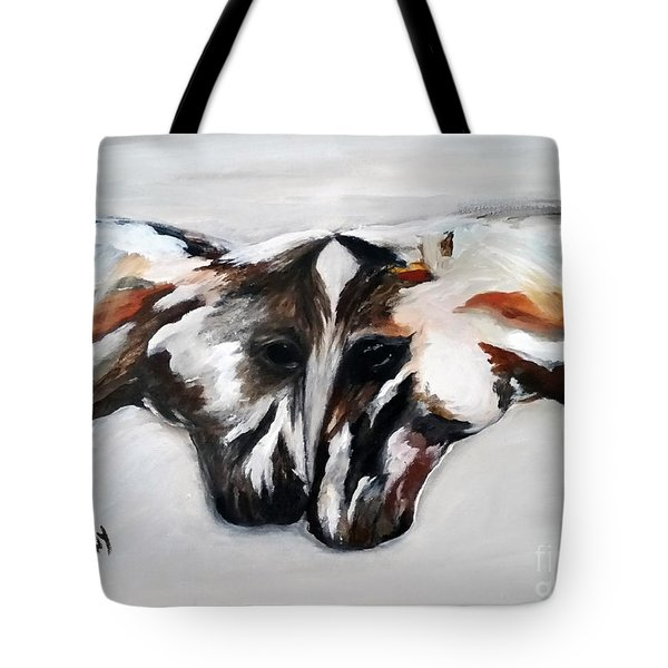 Father And Daughter - Find All The Animals Inside Tote Bag by Barbie Batson
