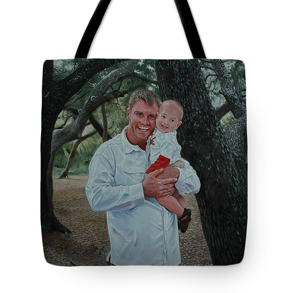 Father And Son Tote Bag by Michael Nowak