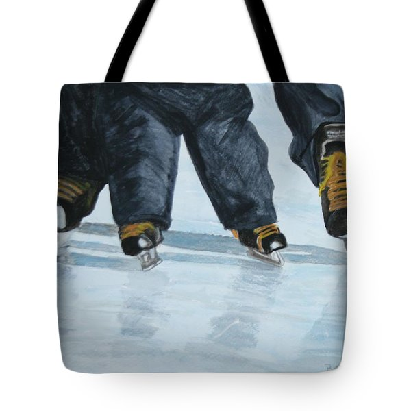Father And Son Skate Day Tote Bag