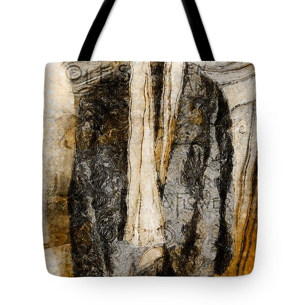 Tote Bag featuring the photograph Father's Coat by Claire Bull