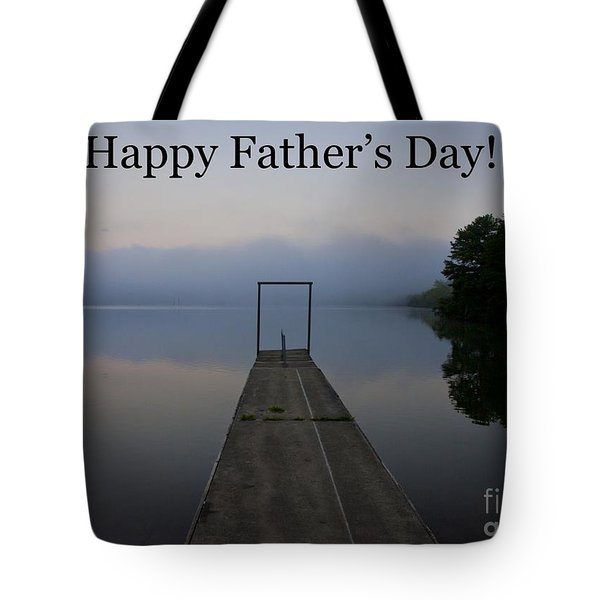 Father's Day Dock Tote Bag by Douglas Stucky