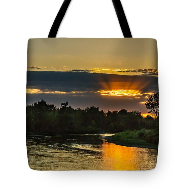 Father's Day Sunset Tote Bag