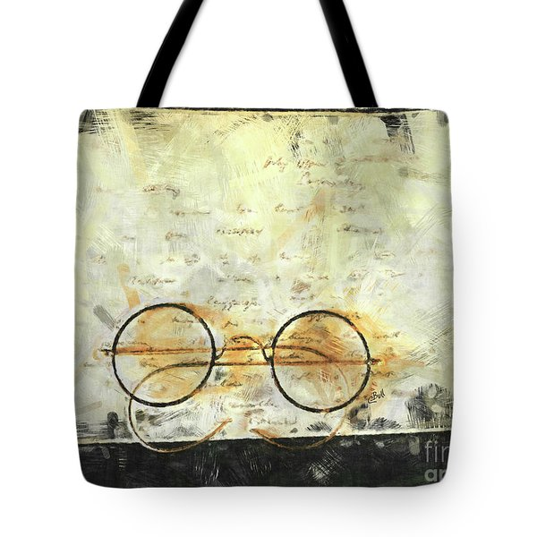 Tote Bag featuring the photograph Father's Glasses by Claire Bull