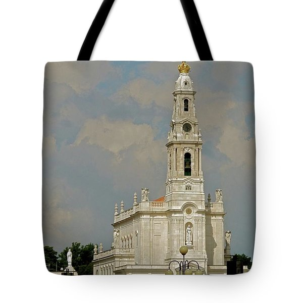 Tote Bag featuring the photograph Fatima Cathedral by Kirsten Giving