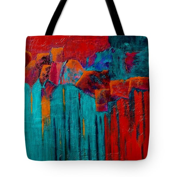 Waterfall Tote Bag by Nancy Jolley