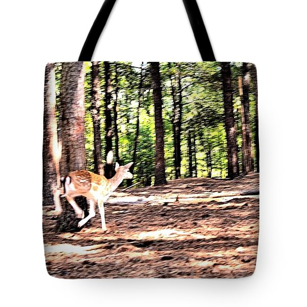 Faun In Flight Tote Bag by James Potts