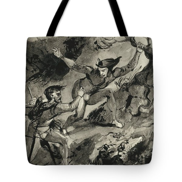 Faust And Mephistopheles On The Blocksberg Tote Bag