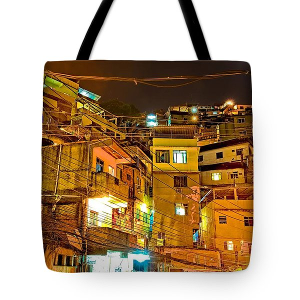 Tote Bag featuring the photograph Favela Night by Kim Wilson
