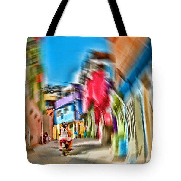 Tote Bag featuring the photograph Favela Vortex by Kim Wilson