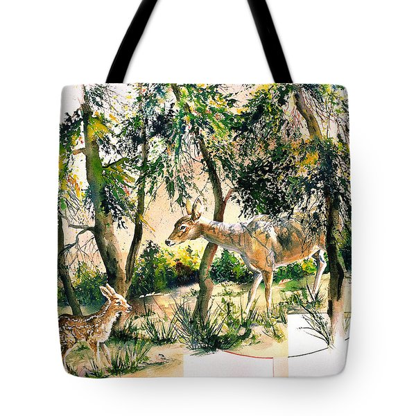 Fawn And Doe Tote Bag