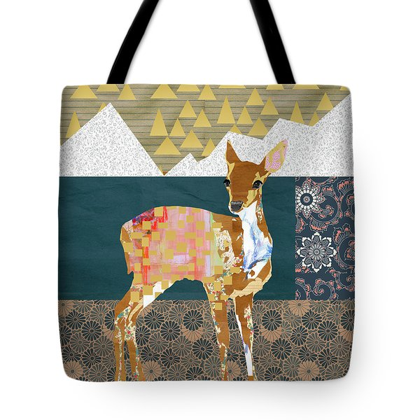 Fawn Collage Tote Bag by Claudia Schoen