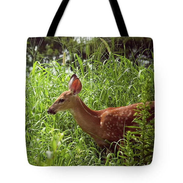 Fawn In The Meadow Tote Bag