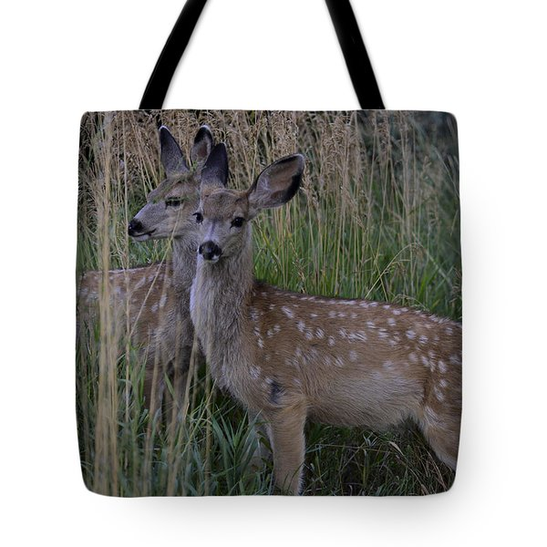 Fawn Twins Tote Bag