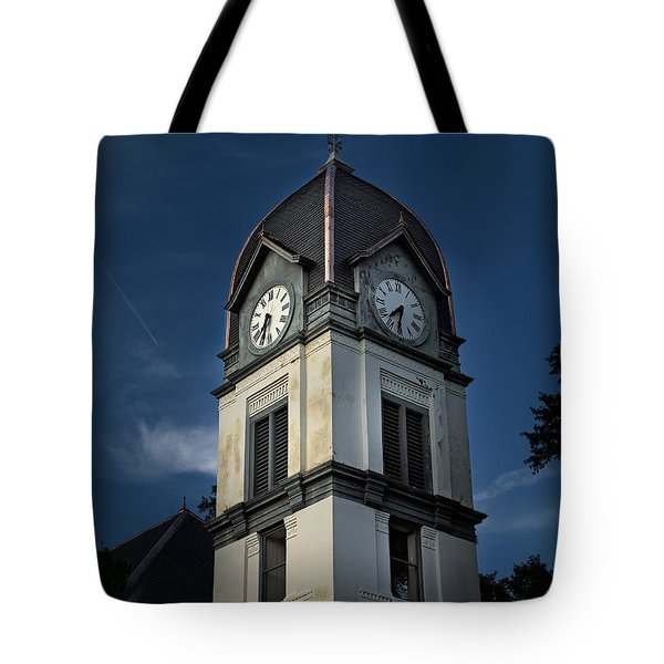 Tote Bag featuring the photograph Fayette County Courthouse by Sally Simon