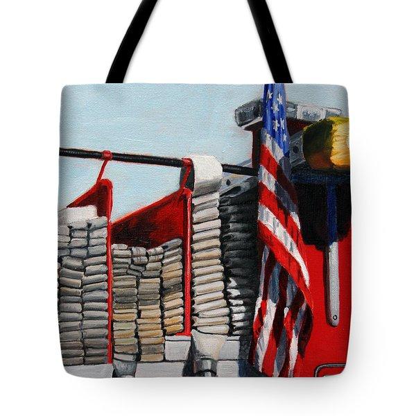 Fdny Engine 59 American Flag Tote Bag