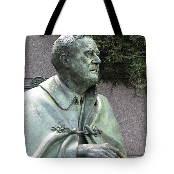 Fdr Statue At His Memorial In Washington Dc Tote Bag